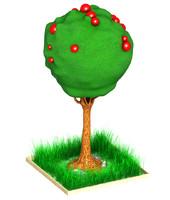 tree cartoon art obj