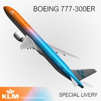 3d boeing klm special livery