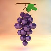 grapes assets 3d c4d