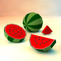 watermelon melon 3d model