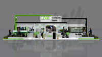 Exhibition stand 14 mtr x 9 mtr 3 sides open