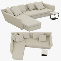 flexform adagio sofa 3d model