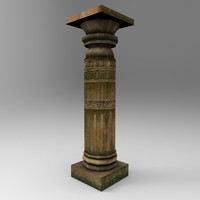 3d model stone pillar 7