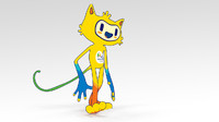 vinicius olympic games mascot 3d model