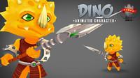 3d model character dino