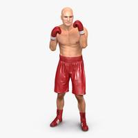 boxer man 2 pose 3d c4d
