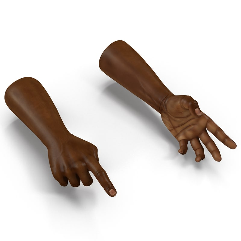 African Man Hands Rigged 3dmax 3d model 001.jpg