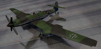 3d blohm voss fighter aircraft