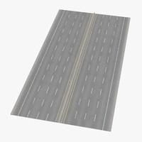 8 lane highway straight 3d model