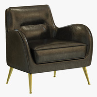 3d model essential home dandridge armchair