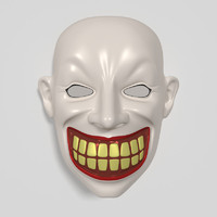 3d obj clown mask