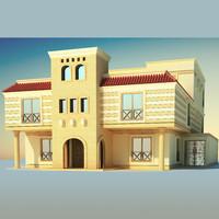 architecture building villa 3d 3ds