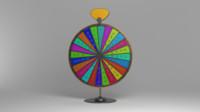fortune wheel 3d model