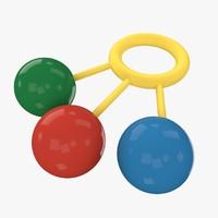 3d rattle toy