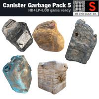 canister garbage pack 8k obj