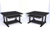 3d working desk model