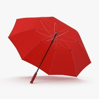 max open red umbrella