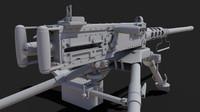3d m2 browning machine gun model