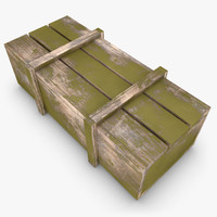 3d realistic wooden box 02 model