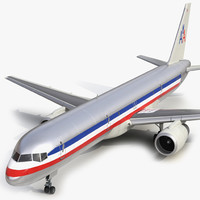 3d model boeing 757-200f american airlines
