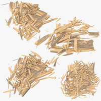 splintered wood c4d