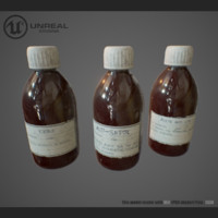 medicament bottle 3d model