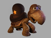 3d model turtle cartoon toon
