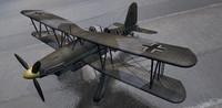 3d model fieseler fi-167 pavla bomber