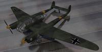 fw-189a-1 bomber 3d 3ds