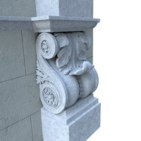 3d architectural element classical model