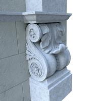 3d architectural element classical model
