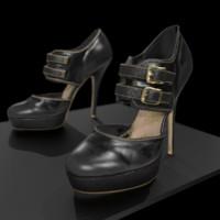 shoes pbr 3d model