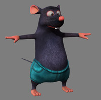 3d cartoon mouse rigged model