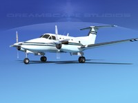 propellers beechcraft king air 3d model