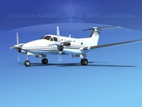 propellers beechcraft king air 3d 3ds