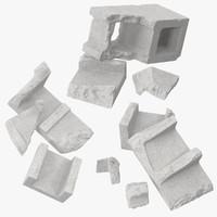 c4d broken cinder blocks