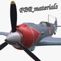 3d model la-5 soviet fighter materials