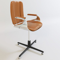 Office chair with leather material