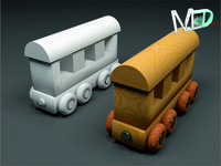wood train wagon t2v11 3d max
