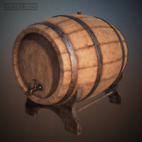 wine barrel bars 3ds