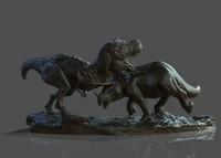 dinosaur statue obj