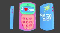 cute phone 3d model