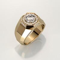 Mens ring with round gemstones 008