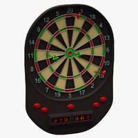 3d model of dartboard arrows
