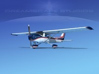 3d cessna c152 commuter model