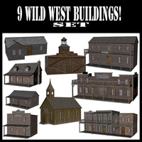 obj 9 wild west buildings