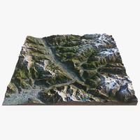 3d alps landscape terrain
