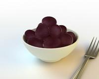 3d model 52 grapes