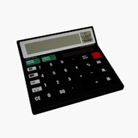 3d model of scientific calculator