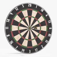 darts dartboard 3d model